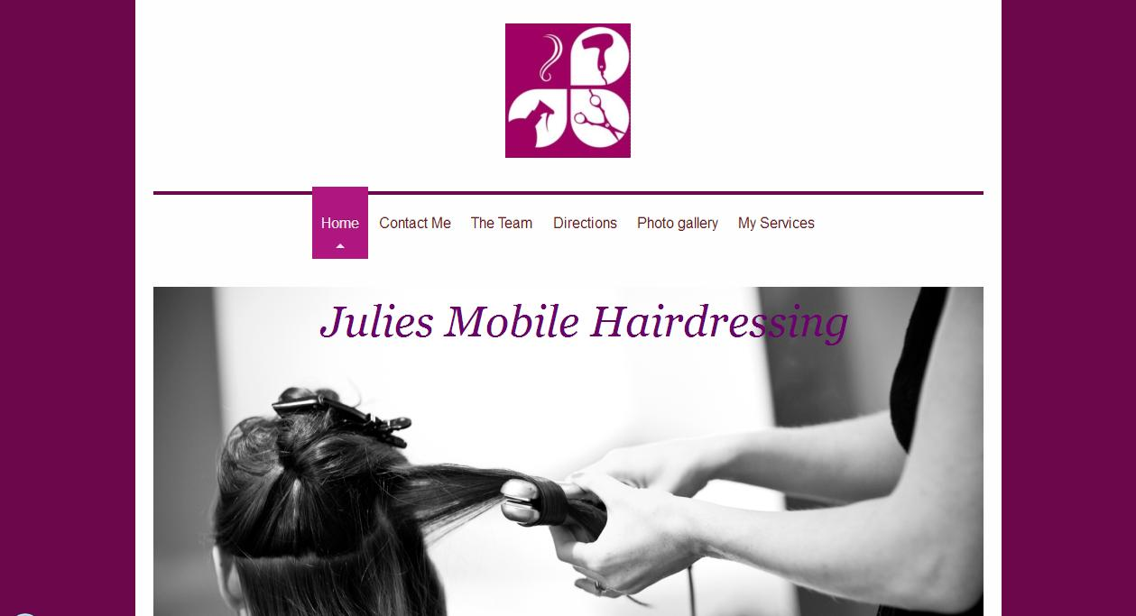 Clikc here to visit Julie Mobile Hair Dressing